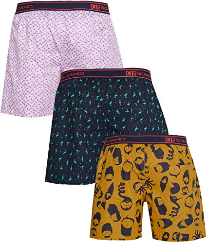Global Rang Men's Cotton Boxers (Pack of 3)
