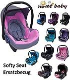 Sweet Baby * * Softy Protect Cabriofix * * Doux et épais rembourré Housse de rechange pour Maxi Cosi Cabriofix (Gris/Rose)