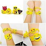 JZK 28 x Emoji Gummi Armbänder Party Spielzeug Set Schnapparmband Klatscharmband für Kinder Giveaways Kindergeburtstag Party Geschenk Mitgebsel Vergleich