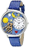 Whimsical Watches Unisex U1810006 Gemini Royal Blue Leather Watch best price on Amazon @ Rs. 846