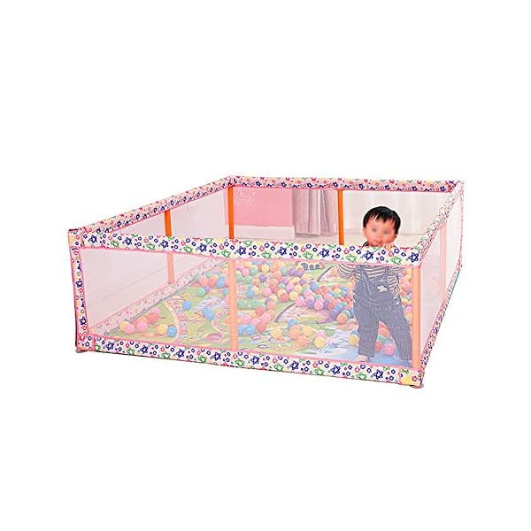 Playpens Large, Indoor Outdoor Playyard, Safety Activity Centre Play Yard, Children/Toddler/Boy/Girl, 150×190×60cm Playpens  1