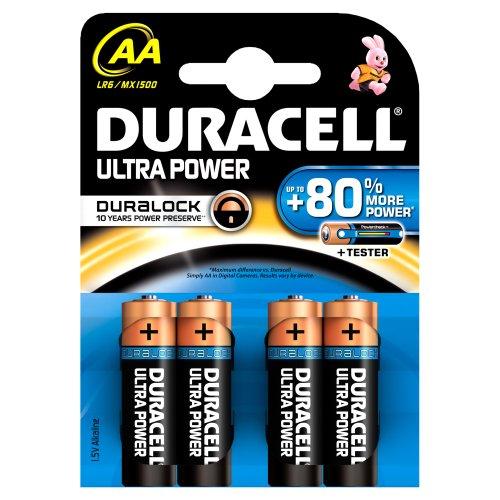 Duracell DURALOCK Ultra Power AA (LR6) Alkaline Batterien 4Stück