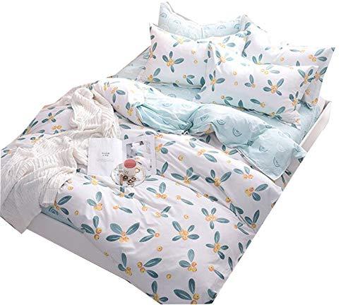 MR.MO Vierteiliges Bett Set,Reine Baumwolle,Bettbezug * 1,Blatt* 1 Kissenbezug* 2 Super King Size, Geeignet Für Big Bed,Verschleißfest - Baumwolle Wasserbett Blatt