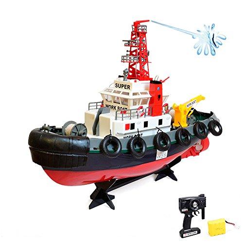 Preisvergleich Produktbild RC ferngesteuerter Hafenschlepper-Boot, Schiff von der Küstenwache, Komplett-Set inkl. Akku und Fernsteuerung, Neu