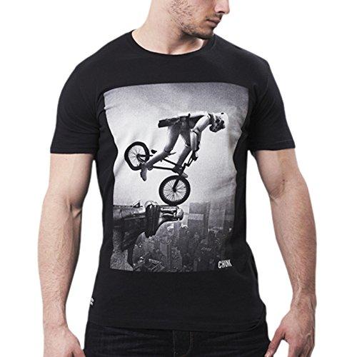 CHUNK 'BMX Trooper' Star Wars Herren Grafik T-Shirt (Small, Schwarz)