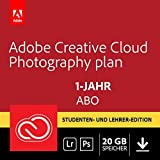Adobe Creative Cloud Foto-Abo mit 20GB: Photoshop CC und Lightroom CC Student und Teacher | 1 Jahreslizenz | PC/Mac | Key Card & Download