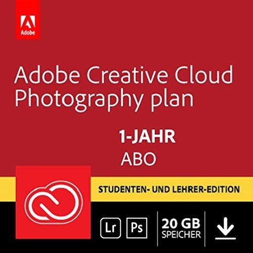 Adobe Creative Cloud Foto-Abo mit 20GB: Photoshop CC und Lightroom CC Student und Teacher | 1 Jahreslizenz | PC/Mac | Online Code & Download (Adobe-photoshop-abo)