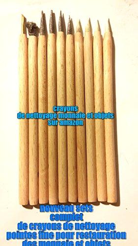 Set de 10 Crayons grattoires de nettoyage pour pieces de monnais et objets