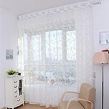 Home Hotel Fenster Screening Tüll Blume Modern Vorhänge Für Wohnzimmer  Sheer Vorhang White ...
