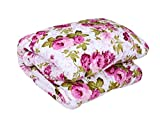 #10: Mahima Furnishing Floral Print Reversible Poly Cotton Single Bed AC Blanket / Dohar
