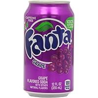 Fanta Grape Soda Can 355 ml (Pack of 12)