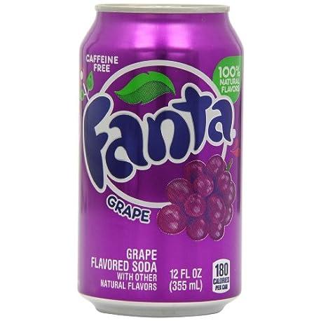 Fanta Grape Soda Can 355 ml Pack of 12