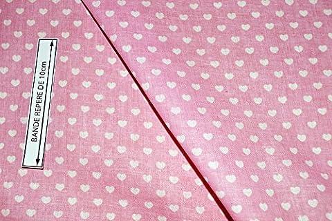 Coupe tissu voile de coton rose à