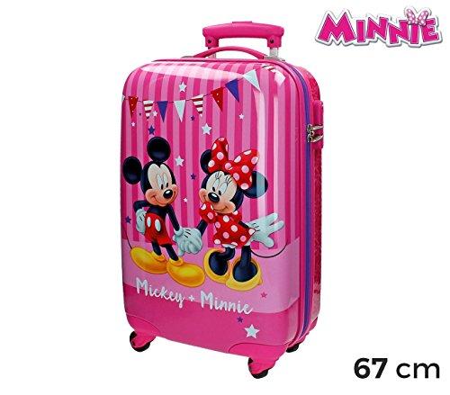 2691551 Maleta trolley ABS rígida equipaje mano MINNIE Y MICKEY MOUSE 42x67x24cm