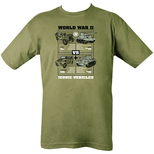 Kombat UK Men's Wwii Iconic Vehicles T-Shirt