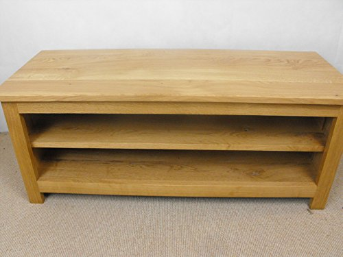 Meuble TV bas en Chêne Massif, support, Meuble ou armoire 1000 x 400 mm 1 étagère réglable, idéal pour la salle de séjour ou salon