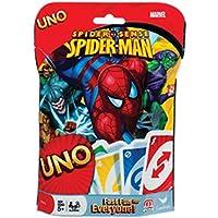 Juego de cartas Uno, sentido arácnido de Spiderman de Marvel, ideal para toda la familia, desafiante y educativo