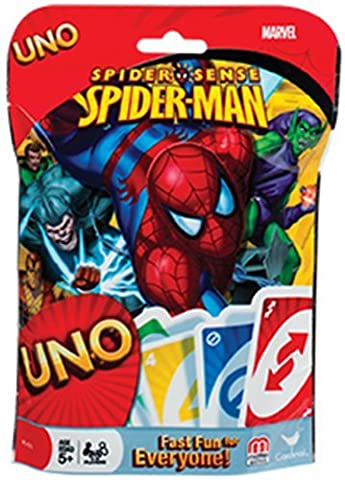 Uno Card Game - Marvel Spider-man Spider Sense - Family Friendly Challenging and Educational