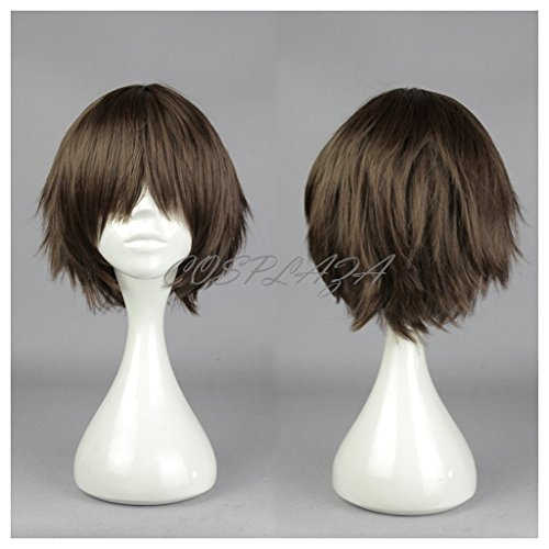 splay Wig Seraph of the End Yoichi Saotome Braun kurz Heat Resistant Party Haar (Ursula Haar Für Halloween)