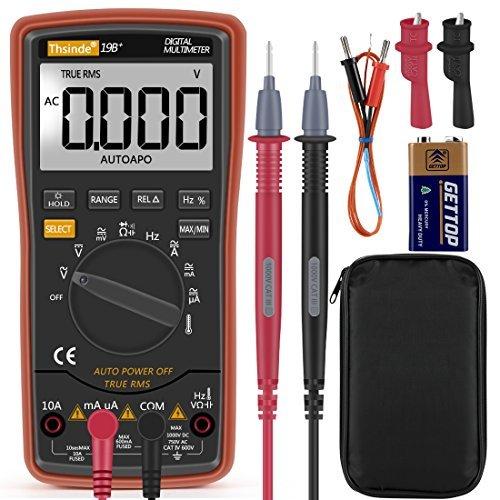 Auto-Range Digital Multimeter 6000Counts Strommessgerät Voltmeter Ohmmeter Amperemeter, Temperatur, Außenleiter-Identifizierung, True RMS, Durchgangsprüfung, für professionelle Anwender