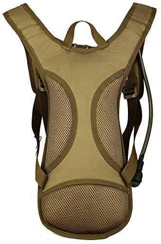 Damen Herren 2.5L Sport Trinkrucksack Shoulder Sling Unbalance Backpack Satchel Outdoor Travel Bike Rucksack mit Wasser perfekt für Wandern Radfahren Joggen, Spazieren Klettern und Bergsteigen,Dunkelb Dunkelbraun