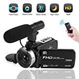 Camcorder with Microphone Video Camera Full HD 1080P Night Vision Vlogging Camera 16X