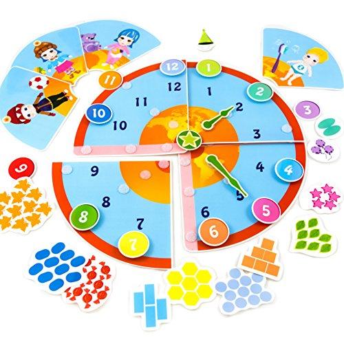 lzeug und Lernspiele ab 4 Jahre bis 7 Jahre Aufkleber Spiele (Schlaue Lernuhr) (Die Kinder Lernen Zu Sagen, Zeit, Uhr)