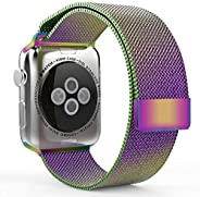 Smartwatch Bands for Apple Watch Band 38mm 40mm, Milanese Loop Band Stainless Steel Adjustable Magnetic Closur