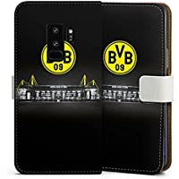 Samsung Galaxy S9 Plus Tasche Leder Flip Case Hülle Borussia Dortmund BVB Stadion