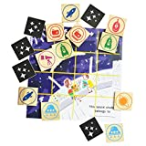 Wooden Memory game - Match Squares - Space - Best Reviews Guide