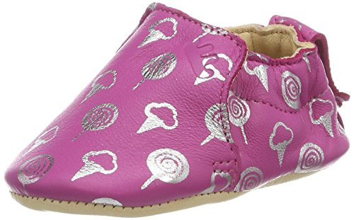 Easy Peasy Baby Mädchen Blumoo Sweety Krabbelschuhe Pink (fushia/argent)