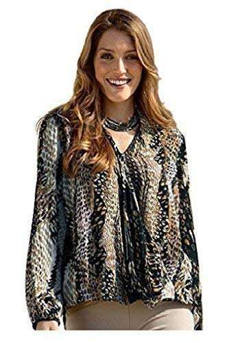 holidaysuitcase - Camicia - Stampa animalier -  donna Brown 52/54