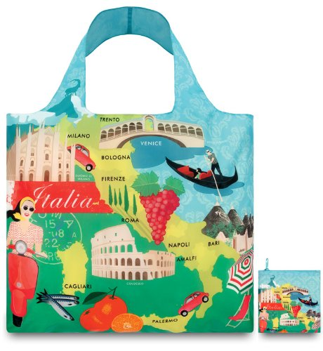 Loqi UR.IT Urban Sac de courses Motif Italie