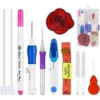 UNEEDE para agujas de bordar costura Punch Pen Set, Craft herramienta para tejer costura herramienta para bordado threaders