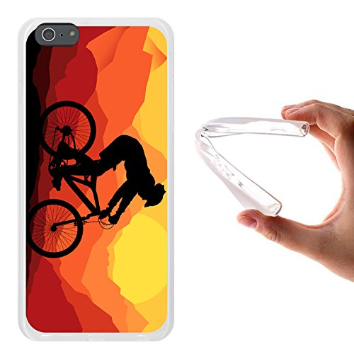 iPhone 6 Plus | 6S Plus Hülle, WoowCase® [Hybrid] Handyhülle PC + Silikon für [ iPhone 6 Plus | 6S Plus ] Husky-Hunde Sammlung Tier Designs Handytasche Handy Cover Case Schutzhülle - Transparent Housse Gel iPhone 6 Plus | 6S Plus Transparent D0563