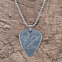 Guitarra eléctrica de metal de acero inoxidable Selecciones de bajos con collar Piezas y accesorios de guitarra en forma de corazón Alta calidad