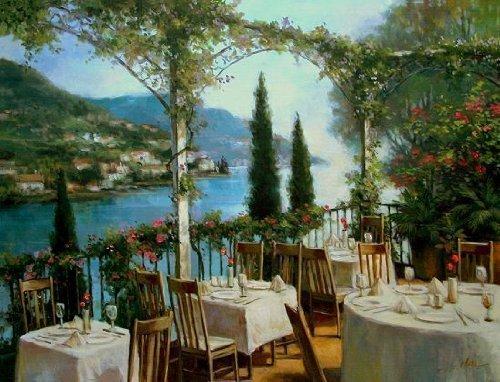 Keilrahmen-Bild - T.C. Chiu: Amalfi Terrace 60 x 80 cm