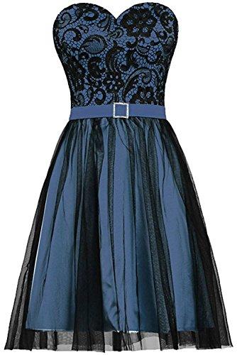 Gorgeous Bride Modisch Herzform ALinie Mini Tanzkleider Partykleider 2017  Damen Abendkleider Kurz Cocktailkleider Ballkleider Dunkelblau