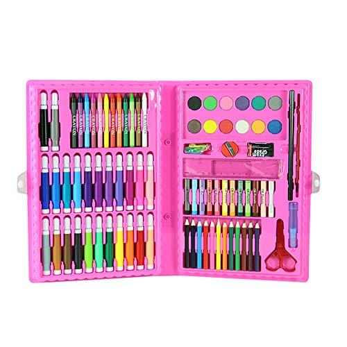 Set zum Malen, 86-teiliges Set aus Briefpapier-Aquarellstift,Pink ()