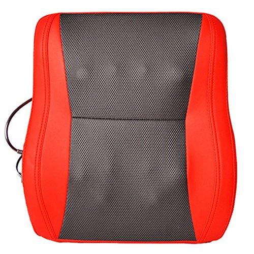 按摩器 Massager Massage Pad Neck Schulter Taille Zurück Multifunktions Massage Kissen Körper Massage Kissen Heizung,Red