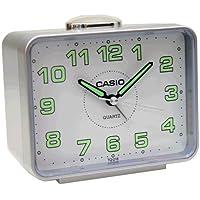 CASIO 10106 TQ-218-8 - Reloj Despertador analógico gris