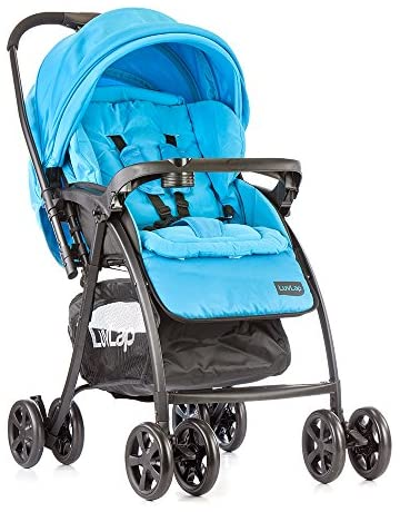 LuvLap Grand Stroller/Pram, Easy Fold, for Newborn Baby/Kids, 0-3 Years (Sea Green)