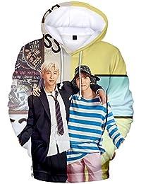 FLYCHEN Sudadera con Capucha BTS Love Yourself 3D Impreso para Mujeres Hip Hop Top Pullover Casual Cool Street Women\'s Sweatshirt