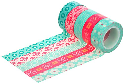 HIART Washi-Tape, wiederverwendbar, Bubble Gum Collection, 5 Stück