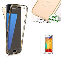 For Samsung Galaxy A310 A3(2016 Model) Case [360 Degree Protective] Transparent Fit Unique Slim Strong All Round Protection Front and Back Full Body Two Piece Soft TPU Silicone Gel Case Cove for Samsung Galaxy A310 A3(2016 Model)- Gold