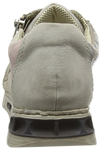 Rieker M2840, Sneakers Basses femme Gris (grey/silber/hay/crema/rose / 40)