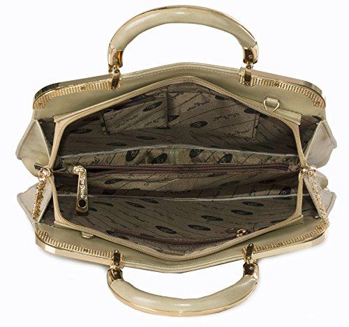 Big Handbag Shop , Damen Henkeltasche Einheitsgröße Hellbraun