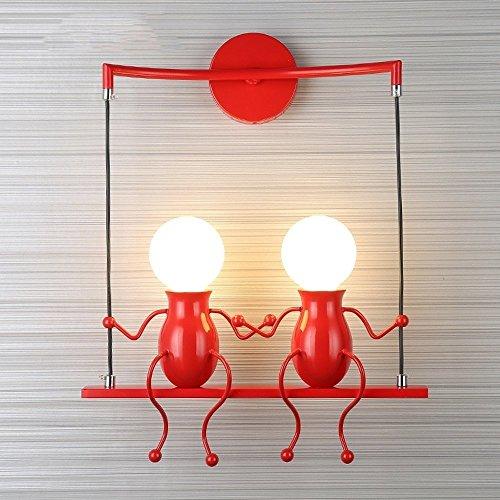 FSTH Einfache Wandleuchte Schwingen Metall Wandleuchte Kreatives Wandlampe Cartoon Lampe für Bar,...
