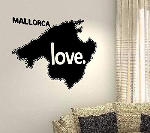 Adesivi da Parete Citazioni Camera da Letto Soggiorno Decorazioni Parete Mallorca Love