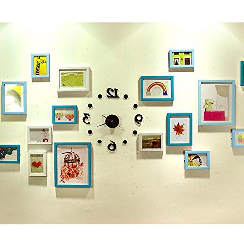 Einfache Heart-Shaped Foto Wall Sticker Dekorative Wand Foto Wand Foto An Der Wand Hängenden Klammer Nagel Nahtlose Mesh, 17 Frame Clock Platte (Kunststoff-square-platten)